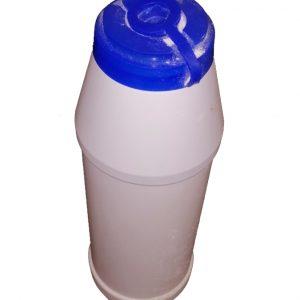 super absorbent granules in shaker bottle